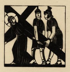 Eric Gill, 'Jesus Receives His Cross' 1917