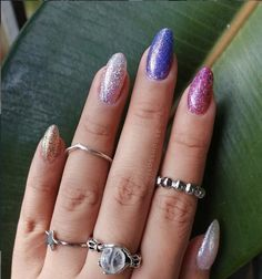 Here for the sparkle ✨ ⭐Depth Leopard 💎Halo There! 🌠Reserve Comets For Later 💖Multi Dimensional Diva ✨Optical Nailusion By: @glosshouse Sparkle Nails, Glitter Nail Polish, Loose Glitter, Blue Glitter, Pretty Makeup, Cute Nails, Interview Nails, Glitter Bath Bomb, Opi Colors