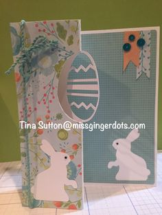 Easter Swing Card - Made from Cricut CTMH Artfully Sent