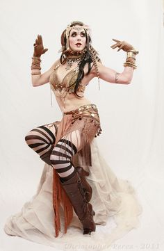 Steam punk, tribal, fusion.....WHAT steam punk belly dance?! my mom would have loved this.