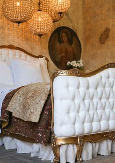 Louis XV Corbeille Style Antique Reproduction Sophia Bed