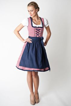 Short mini Dirndl with cute ornaments from Marjo from 79,95 at Bavaria Lederhosen shop now ♥ fast shipping ♥ large selection ♥ great brands