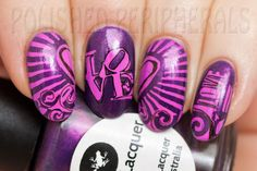 Pueen-Stamping-Nail-Art-Round-Big-Image-Plate-24E-Love-Elements-Collection