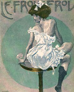 Kirchner - Girl On Table In White Dress
