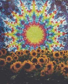 ☮ American Hippie ☮ Trippy Sunflowers