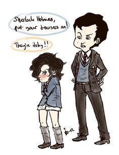 Kid!Sherlock fan art lolz