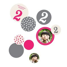 Kids Party Decorations -- Numbers and Dots. Create colorful cut-out kids party decorations that coordinate with your party theme and use them to decorate in so many ways! #peartreegreetings #kidspartyideas