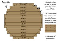 70 inch Circlular Table Top - Assembly