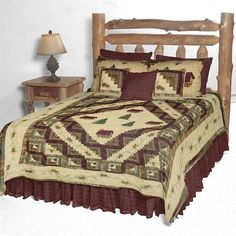 Forest Log Cabin Quilt by Patch Magic Quilts | Patch Quilts & Accessories | PaulsHomeFashions.com
