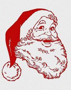 Retro - Free Printables- Santa//I love this Santa! More