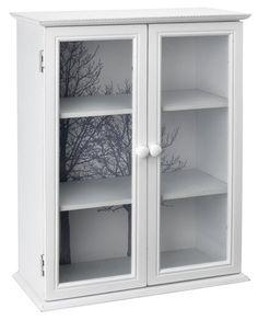 Vitrína BADSTED 2 dvere biela   JYSK