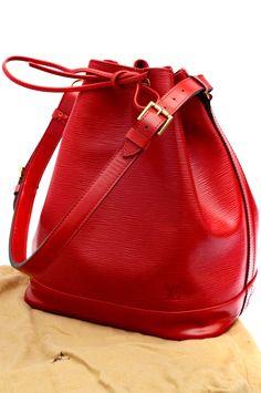 Louis Vuitton Red Epi Noe GM Drawstring Shoulder Bag - louis vuitton