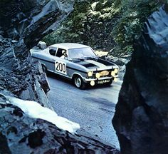 Opel Kadett Rallye 1967 calendar - Opel Kadett Coupé Rallye Some restoration work was needed on this photo. I've never heard that Kadetts were any good at rallies, Kadetts were not known for their fine and responsive handling, but apparently they participate in some competitions.