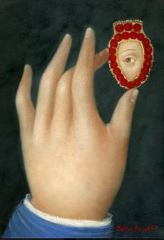 Fatima Ronquillo- Hand with Lover's Eye Lovers Eyes, Miniature Portraits, Art Brut, Mourning Jewelry, Eye Jewelry, Jewellery, Love Symbols, Heart Art, Sacred Heart