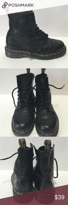 Dr. Martens Black Leather Boots Original Dr. Marten black leather boots. Good condition perfect dressed up or dressed down for every day wear. Dr. Martens Shoes Ankle Boots & Booties
