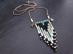 Collier Aztec mint/blue