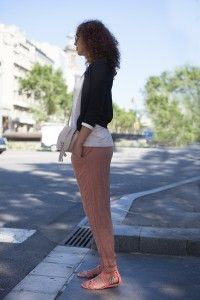 Street Style the salmon colored pants / los pantalones color salmón