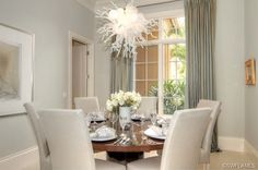 Chihuly style chandelier in the dining room - Luxury Home for Sale in Grey Oaks Naples FL - 2091 Rivoli Ct, Naples, FL 34105