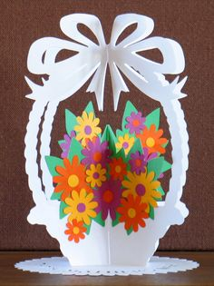 Cards Happy Easter Paper Cutting Quilling Twinkle Twinkle Crafts For Kids Mother's Day Easter Card Class Decoration Upcycled Crafts, Diy And Crafts, Crafts For Kids, Paper Flowers Diy, Flower Crafts, Handmade Greetings, Greeting Cards Handmade, Upcycle Home, Diy Toys
