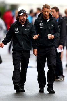 In the Paddock w/Jenson Button and Fernando Alonso ahead of the 2015 #F1 Grand Prix @ Suzuka