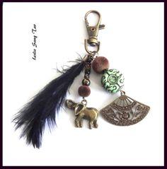 """Nouveau, joli bijou de sac, porte clés """"éléphants """" : Porte clés par leslie-sang-tao"""