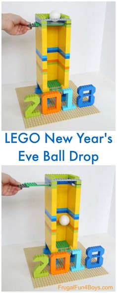 Build a New Year's Eve Ball Drop with LEGO Bricks – Frugal Fun For Boys and Girls - new years New Year's Eve Crafts, Holiday Crafts, Holiday Fun, Crafts For Kids, Diy Crafts, Holiday Parties, Festive, Holiday Decor, New Years With Kids