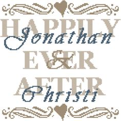 Wedding Record Cross Stitch Pattern/Wedding Record/Cross Stitch Chart/Happily Ever After Cross Stitch Pattern/Modern Wedding Cross Stitch by oneofakindbabydesign on Etsy