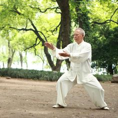 Tai Chi Linked to Longevity--Tai chi A good exercise for the young and old alike is tai chi, a martial art that originated in China and, like yoga, cultivates mindfulness. #TaiChi #Taijiquan