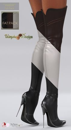Something a bit different Thigh High Boots Heels, Stiletto Boots, High Heels Stilettos, Heeled Boots, Bootie Boots, Sexy Boots, Sexy Heels, Leder Boots, Frauen In High Heels