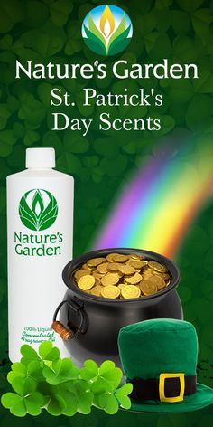 Fabulous St. Patrick's Day Scents from the world renowned Natures Garden Fragrance Oils.  These fragrances are typically used to make candles, soap, cosmetics, room scent, and bath and body products. #stpatricksdayscent