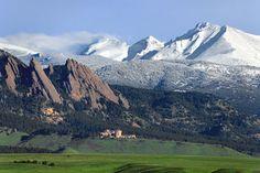 The Flatirons, Mt. Meeker, and Longs Peak. Colorado