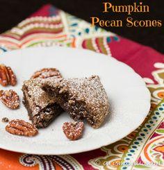 Pumpkin Pecan Scones {vegan, paleo, gluten-free}
