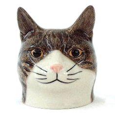 Caille céramique-Millie Coquetier en forme de tête de chat