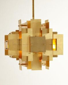 Jonathan Adler Puzzle 2-Light Pendant. Modernistic pendant light inspired by a house of cards.