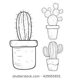 20 Mejores Imágenes De Cactus Para Colorear En 2019 Cactus