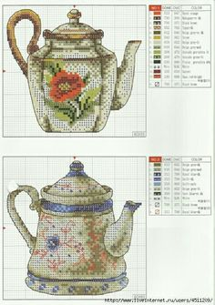 Teapot cross stitch