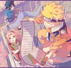 「詰4」/「十」の漫画 [pixiv] Team 7 Uchiha Sasuke Uzumaki Naruto Haruno Sakura Genin