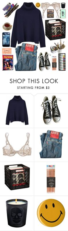 """""""nothing better to do"""" by alltimelukehemmo ❤ liked on Polyvore featuring Ille De Cocos, Converse, STELLA McCARTNEY, Levi's, Mason's and Zadig & Voltaire"""