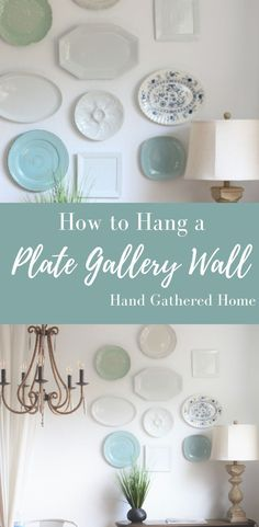 Here's a quick, easy and budget-friendly idea for an empty wall that's maybe in need of some character and a little love. Decor, Farmhouse Decor, Interior Design Tips, Decorating Your Home, Plates On Wall, Elegant Decor, Home Decor, Diy Home Crafts, Home Decor Inspiration
