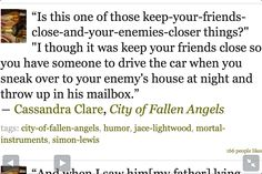 Quote from Mortal Instruments