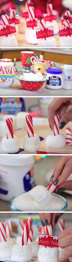 North Pole Cocoa Stirrers | 20 + Easy Christmas Treats for School Parties