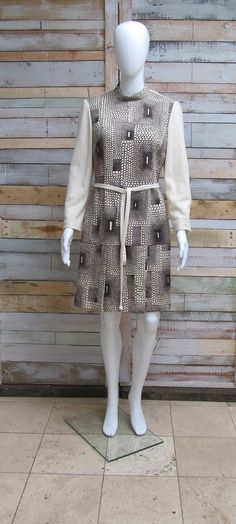 Amazing 'Haute Couture' creme wool Mod/ by CrystalVintageuk