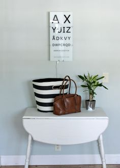black and white office makeover