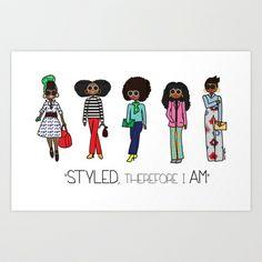 Styled Girls Art Print by Mechal Roe - $22.00