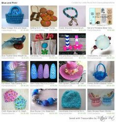 """""""Blues and Pinks"""" Nice variety of gift ideas for these color choices - easy to find something for anyone"""