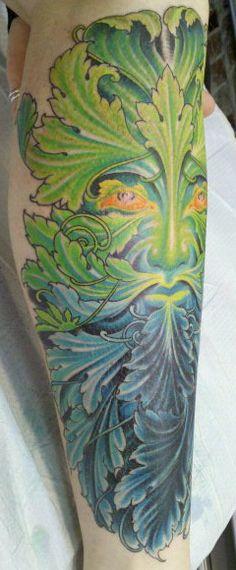 Gorgeous greenman tattoo