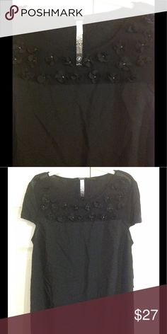 Kensie Black Floral Blouse Shirt Size S Small NWT Kensie Black Floral Appliqué Blouse Shirt Size S Small NWT Kensie Tops Blouses