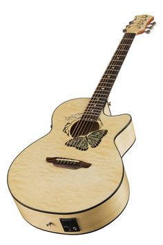 Musical Instruments & Gear Luna Vista Eagle Tropical Woods Acoustic Electric Guitar W/ Ohsc Able New Acoustic Electric Guitars
