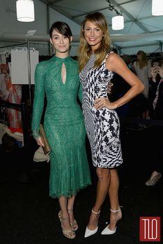 Love Emmy's green dress. New York Fashion Week Spring 2014 Front Row: Day 3   Tom & Lorenzo