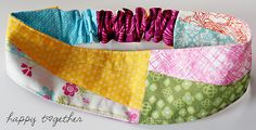 Cute! Head band double sided patchwork~pattern & tut....nice post